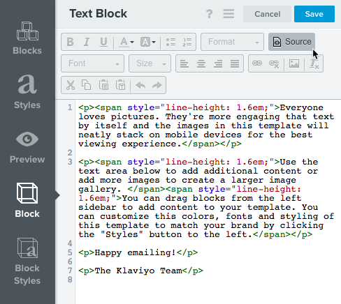 The Email Template Editor – Klaviyo - Help Center
