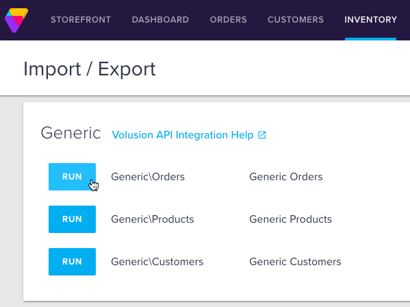 in the generic section you will find the option to run the export of your stores genericorders once the export is ran the page will refresh