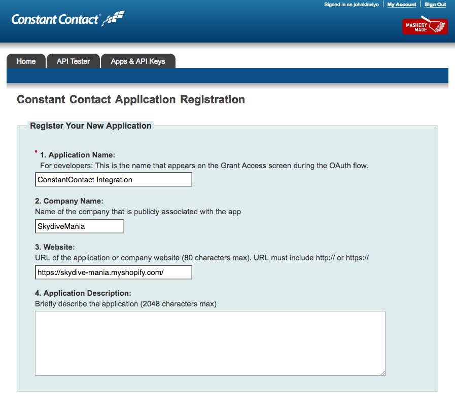 Constant Contact Integration – Klaviyo - Help Center