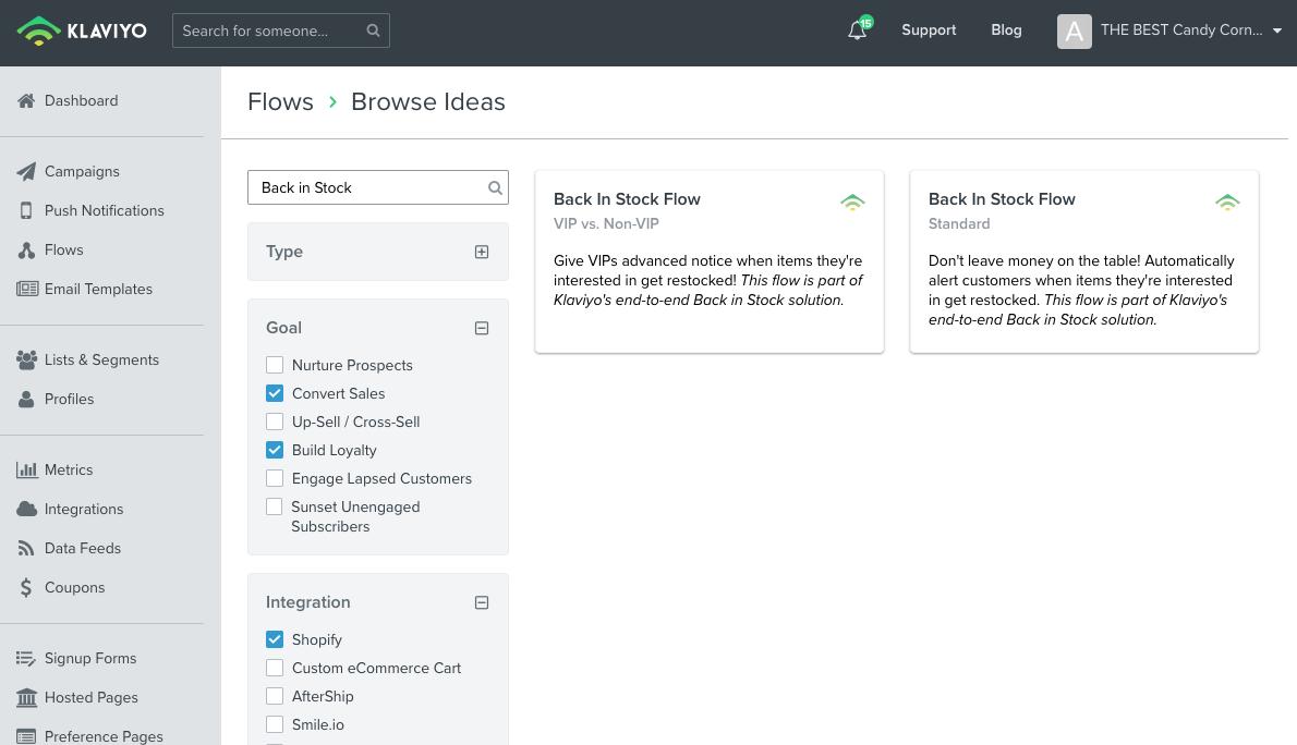 Back in Stock Automatisierungen in der Flow Template Library