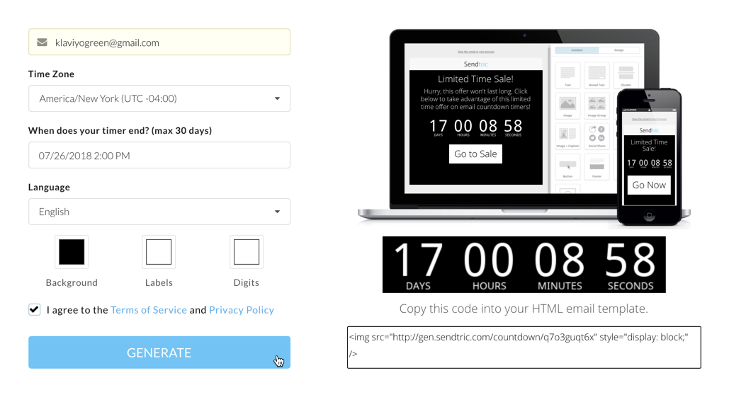 Add a Countdown Timer to Your Email Template – Klaviyo - Help Center