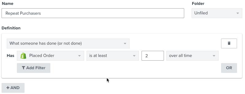 Create a Segment – Klaviyo - Help Center