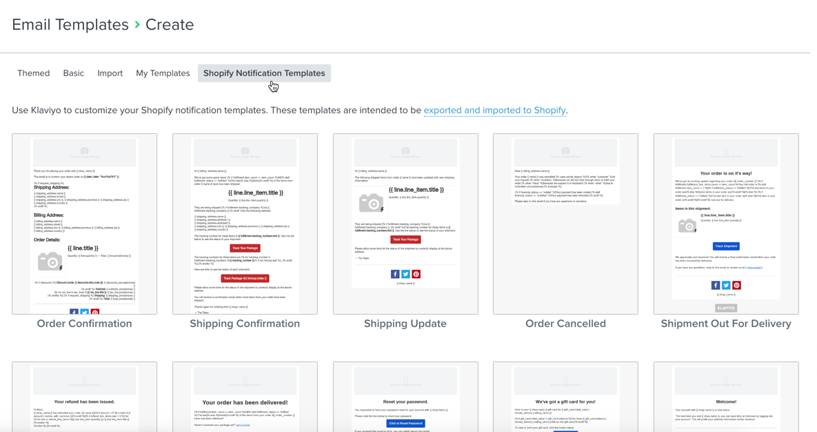 Personalize and Export Shopify Notification Emails – Klaviyo - Help